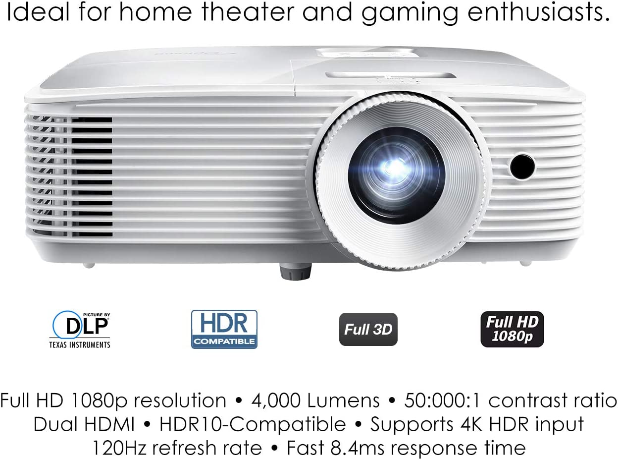 Optoma HD20HDR High Brightness HDR Home Theater Projector   20Hz ...