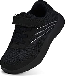 Boys Girls Sneakers Kids Running Shoes Lightweight Strap Tennis Sports Shoes Breathable Athletic Mesh Shoes for Little/Big Kids.