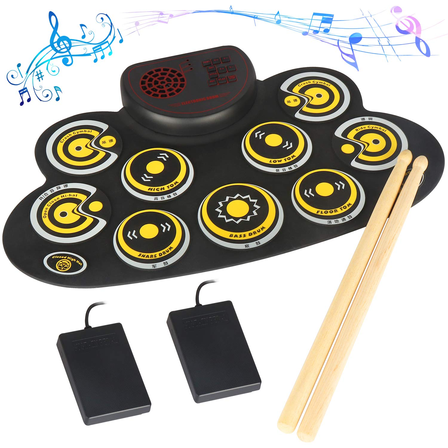 Electronic Practice Pad Portable Speakers Beginners
