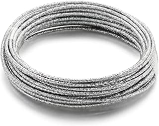 Kissitty 12 Gauge 2 Rolls Aluminum Wire 2mm 32.8 Feet Silver DIY Craft Wire Jewelry Beading Metal Wire for DIY Jewelry Craft Ornament Making