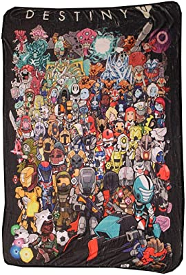 Surreal Entertainment Chibi Characters Fleece Throw Blanket | 45 x 60| Destiny Collector's Edition