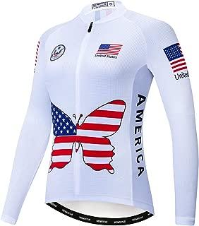 Women's Cycling Jersey Long Sleeved,Bike Jacket Biking Shirt Bicycle Clothing Comfortable Quick Dry Wear Top