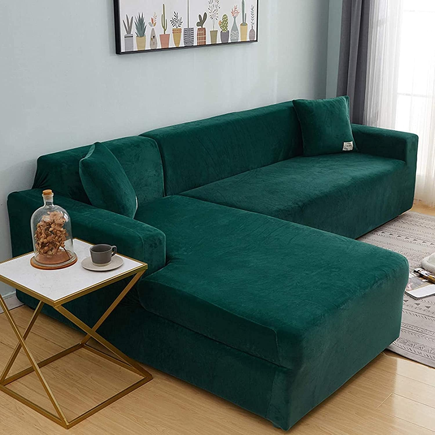 JYHS 2 Piece Stretch Sofa Covers Max 72% OFF Credence Sectional Easy-Going