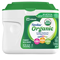 Similac Organic Infant Formula with Iron, USDA Certified Organic, Baby Formula, Powder, 1.45 lb