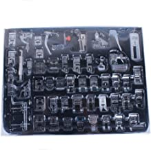 YEQIN Professional 52 PCS Domestic Sewing Machine Foot Presser Foot Presser Feet Set for Singer, Brother, Janome,Kenmore, Babylock,Elna,Toyota,New Home,Simplicity and Low Shank Sewing Machines