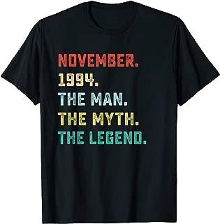 The Man Myth Legend November 1994 Birthday Gift 25 Yr Old M3 T-Shirt