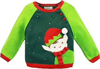 ZUBELS Baby Boys' Cotton Knit Elf Sweater, All-Natural Fibers, Eco-Friendly, Green