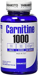 Yamamoto Nutrition Carnitine 1000 integratore alimentare di Carnitina - 90 Compresse, 122 g