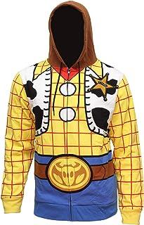 Disney Pixar Toy Story 男士 I Am Woody The Cowboy Sheriff 服装成人运动衫拉链连帽衫