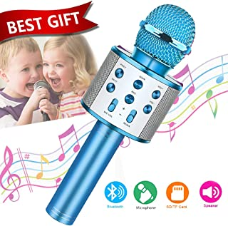 Fun Toys For 4-15 Year Old Girls,Niskite Handheld Karaoke Microphone For Kids Age 7-14,Birthday Gifts for 8 9 10 11 Years Old Boys Girls Blue