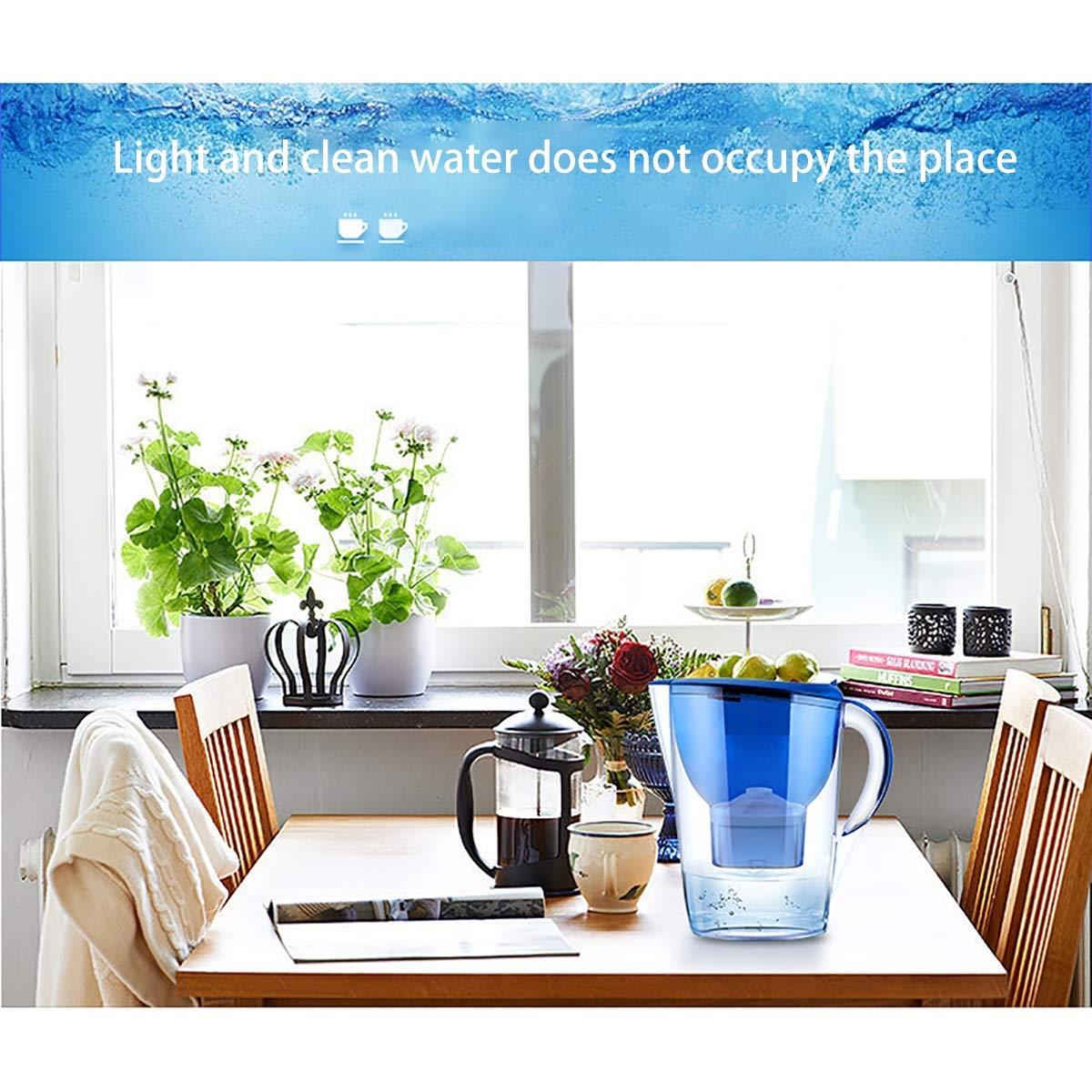SOYYD Jarra con Filtro de Agua de 3,5 l y Paquete de 1 Cartuchos de Filtro de Agua Gratis (Paquete de 2 en Total), Jarra Purificadora Transparente, Pequeño,Azul: Amazon.es: Hogar