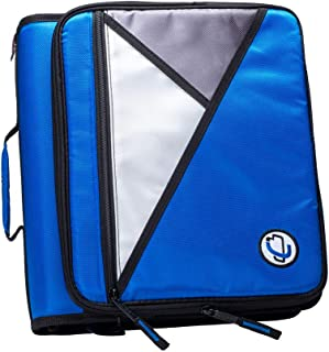 Case-It 1.5-Inch 3-Ring Zipper Binder with Removable Laptop Sleeve, Blue, LT-207-BL