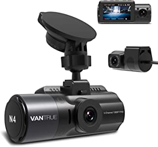 Vantrue N4 Three Way Dash Cam 3 Channel 1440P Front, 1080P Inside, 1080P Rear Triple Car Dash Camera, Infrared Night Visio...