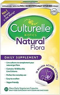 Culturelle Natural Flora 每日健康胶囊,有效的益生菌 | 20 粒胶囊
