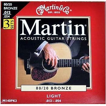 Martin 80/20 Bronze 3 jeux de cordes pour guitare folk Tirant light .012-.054 (Import Royaume Uni)
