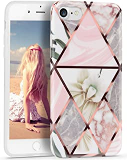 iPhone 7 Case, iPhone 8 Case for Girls, Imikoko™ Transparent Floral Flower Cute Pattern Crystal Clear Protective Case Hard...