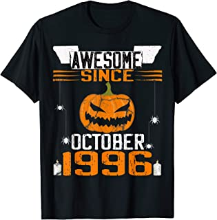 Awesome Since October 1996 Vintage Pumpkin 23th Birthday T-Shirt