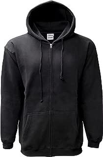 Men's Adult Hooded Full Covered Zipper Fleece Sweatshirt Jacket
