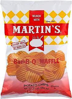 Martin's Bar-B-Q Waffle Potato Chips 9.5 Ounces (4 Bags)