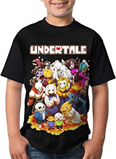 Undertale Youth Short Sleeve Casual T-Shirts Tops for Boy Girl