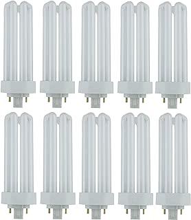 Pack of 10 PLT 26W GX24q-3 827, 26 Watt Triple Tube, 4 Pin Compact Fluorescent Light Bulb