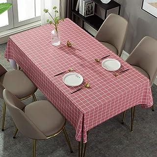 othulp Nappes rectangulaires Nappe PVC Nappe Partie de Linge de Table Lavable Couverture de Table Table Chiffon essuyer en...