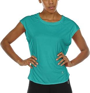 a6834ee8cb icyzone Yoga Tops Activewear Raglan Workout Tank Tops Fitness Sleeveless  Shirts for Women