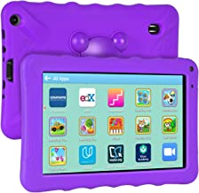 XGODY 9 Inch Kids Tablets Android Tablet Quad Core 1GB RAM 16GB ROM with WiFi IPS HD Display Dual Camera Shockproof Silicon Case for Kids(Purple)