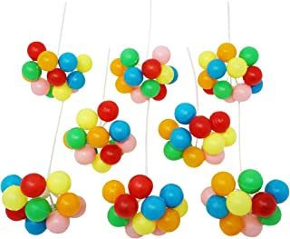 7 Inch Balloon Cluster Pick (8 Clusters Per Pkg) - Assorted Colors