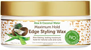 African Pride Moisture Miracle Maximum Hold Edge & Hair Styling Wax, Enriched with Aloe & Coconut, Controls Edges while No...