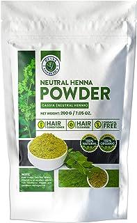 Neutral Henna Powder (Cassia Obovata)  200 Grams/(7.05 ounces)  Pure, Colorless Henna, Hair Conditioner, Hair Growth   Hen...