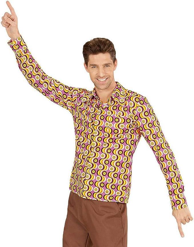 Camisa Disco Hombre Outfit para Fiesta de los años 70 / Rosa ...