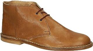 Leonardo Shoes Polacchine Casual Uomo Fatte a Mano in Pelle Color Cuoio - Codice Modello: 200 Carmen Cuoio - Taglia: 46 EU