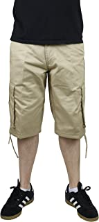 Access Solid Color Cargo Shorts with Belt
