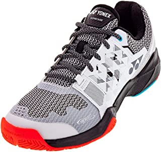 YONEX Men`s Power Cushion Sonicage Tennis Shoes White and Black ()