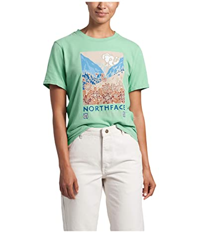 The North Face Berkeley Short Sleeve Tee (Sullivan Green Wash) Women