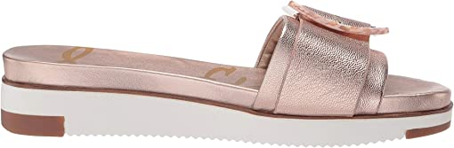 Champagne Rose Gilded Metallic Leather