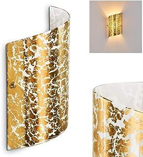 Aplique Pordenone cristal dorado - dormitorio - salón - pasillo