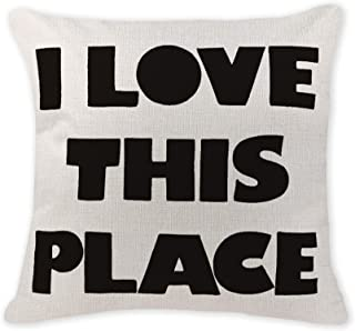 Acelive 16x16 Inches Decorative Pillow Case Cover Throw Pillow Case Cover I Love This Place Pillow Case Cover