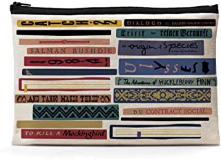 Ihopes Banned Books Canvas Zipper Pouch   Funny Library Themed Cotton Canvas Pencil Case/Pencil Pouch/Pen Organizer Bag Gi...