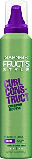Garnier Fructis Style Curl Construct Creation Mousse, Curly Hair, 6.8 oz.
