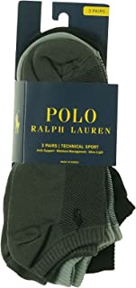 Polo Ralph Lauren 3-Pack Polypropylene Technical Ped with Arch Support and Polo Player Embroidery