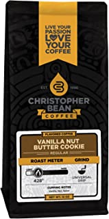 Vanilla Nut Butter Cookie Ground Coffee 12oz Ounce Bag Flavored