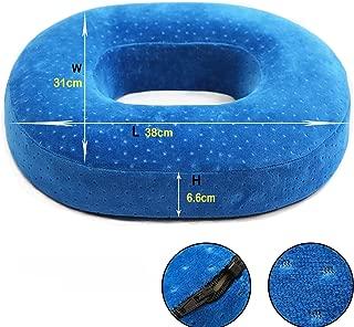 HZDY Premium Memory Foam Donut Seat Cushion Pillow. Non-Slip Chair Pad. Sciatica, Tailbone Hemorrhoids Surgery. Firm and Durable Cushion. Detachable Velvet Cover.