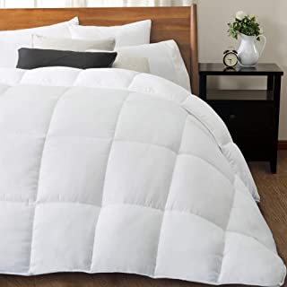 downluxe All-Season Down Alternative Comforter - Quilted Duvet Insert with Coner Tabs - Plush Hypoallergenic Microfiber Fill - Queen