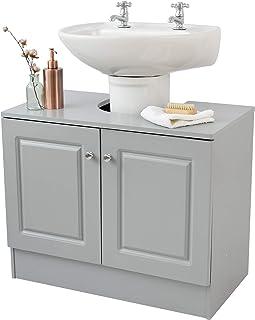House & Homestyle Meuble sous évier, Gris, H 56cm x W 70cm x D 37cm