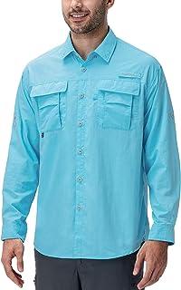 Naviskin Men's UPF 50+ Sun Protection Hiking Shirt Lightweight Quick Dry Outdoor Fishing Long Sleeve Shirts Regular Fit