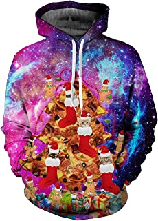 Alistyle Fanient Mens Womens Hoodies Cool 3D Print Athletic Fashion Pullover Hooded Shirts with Pocket
