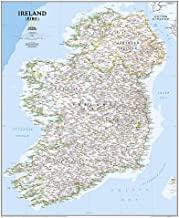 National Geographic: Ireland Classic Wall Map (30 x 36 inches) (National Geographic Reference Map)