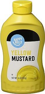 Amazon Brand - Happy Belly Yellow Mustard, Kosher, 14 Ounce